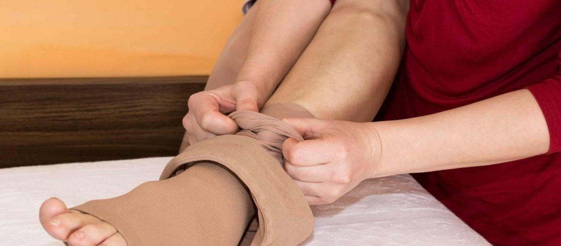 meias elásticas